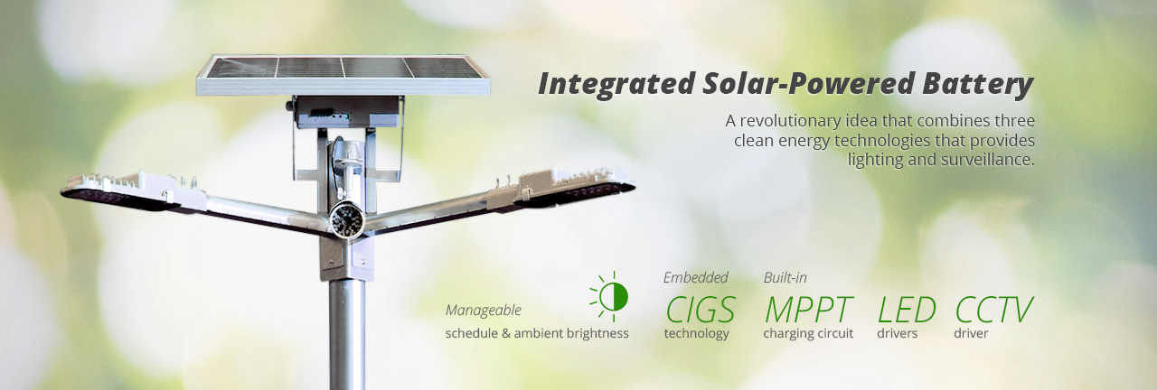 Integrated Solar-Powered Battery